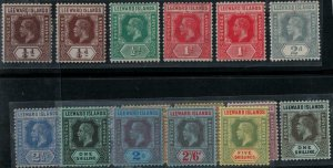 Leeward Islands 1912 SC 46-57 and Varieties Mint SCV $177.00