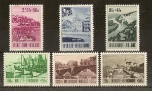 Belgium 1953 Tourism Set SG1442-1447 MNH Cat£110