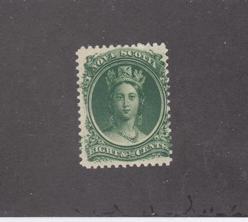 NOVA SCOTIA REF# KM8 # 11 FVF-MLH 81/2cts QV GREEN CAT VALUE $20