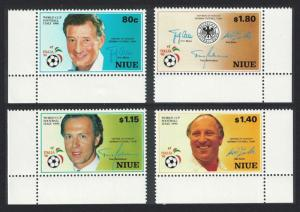 Niue World Cup Football 4v Corners SG#689-692 SC#578-581