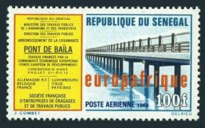Senegal C74,lightly hinged.Michel 408. Baila bridge,1969.