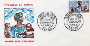 Senegal 1961 Sc#201 Independence Day (1) Official F.D.C.