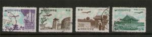 Korea 1961 Sc C23-26 FU