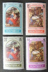 Montserrat christmas religion nativity 4v MNH