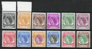 MALAYA MALACCA  SCOTT#29//44 MISSING 5 STAMPS  MINT NEVER HINGED WHITE PAPER