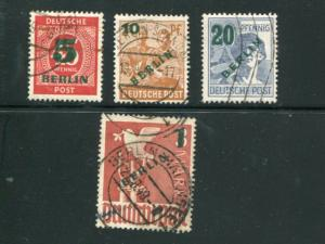 Berlin #9N64-67 Used   VF Lakeshore Philatelics