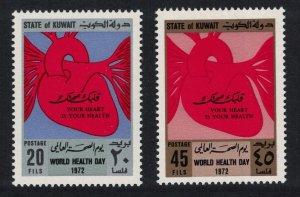 Kuwait World Health Day Heart Month 2v 1972 MNH SG#543-544