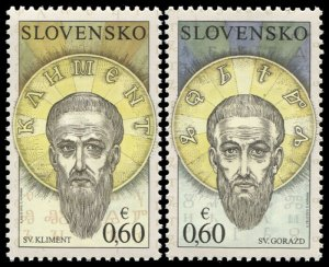 Slovakia. 2010. The Seven Saints (MNH OG) Set of 2 stamps