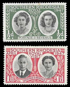 Southern Rhodesia SC 65-66 * Royal Visit * MLH * 1947