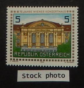 Austria 1442. 1988 Vienna Concert Hall, NH