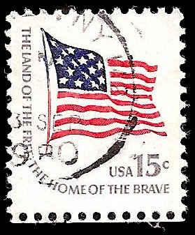 # 1597a USED SMALL BLOCK TAGGING FORT McHENRY FLAG