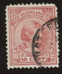 Netherlands Scott 43a used Princess Wilhelmina  1891-1894