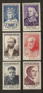 France 1954 Fund SG1215-1220 Mint Cat£225