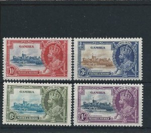 GAMBIA 1935 SILVER JUBILEE SET 1s VALUE EXTRA FLAGSTAFF MM SG 143/146a CAT £275+