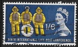 Great Britain 397 Used - 6th International Life Boat Conference  - Elizabeth II