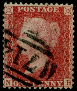 SG40, 1d rose-red PLATE 36, LC14, FINE USED. Cat £25. NH