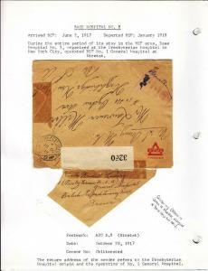 1918, AEF in BEF: APO S.9, Base Hospital #2, Etretal, See Remark (M3447)
