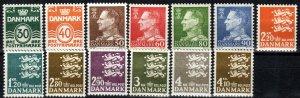 Denmark #437-44A, 444C-D  F-VF Unused CV $30.40  (X2640)