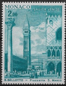 1972 Monaco 835  2fr Save Venice MNH