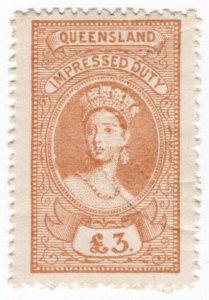(I.B) Australia - Queensland Revenue : Impressed Duty £3