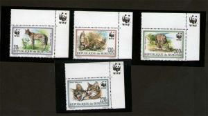 Burundi 1992 Sc 681-684 WWF set MNH