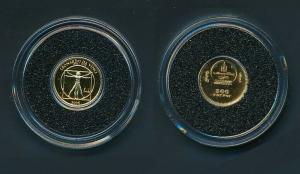 [99481] Mongolia 2006 500 Tugrik Leonardo da Vinci Proof Gold 999 /  0,50 gram