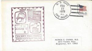 US Navy Deep Freeze Post Office, Christchurch, New Zealand  1979