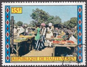 Upper Volta 305  - Cto - 35fr Market, Ouagadougou (1973)