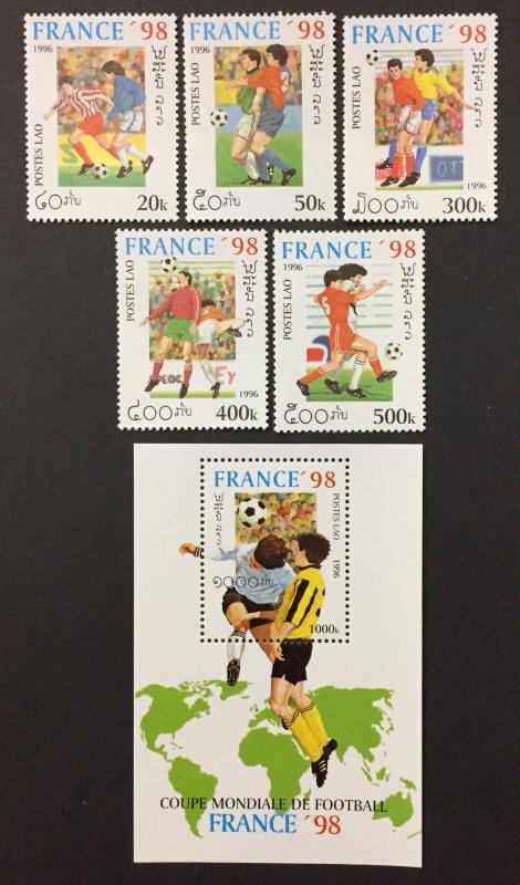 Laos 1996 #1268-73, World Soccer Championship, MNH.
