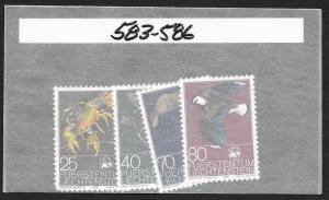 LIECHTENSTEIN Sc#583-586 Complete Mint Never Hinged Set