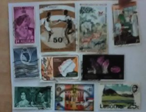 10 stamps from  Africa