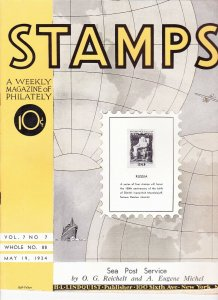 Stamps Weekly Magazine of Philately May 19, 1934 Stamp Collecting Magazine