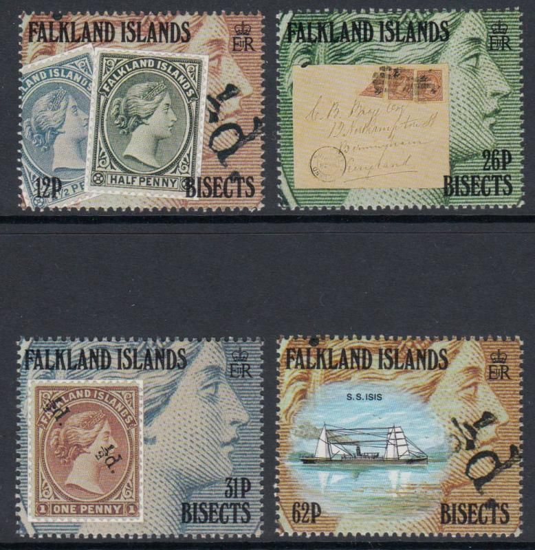 Falkland Islands - 1991 Centenary of Bisected Surcharges (MNH)