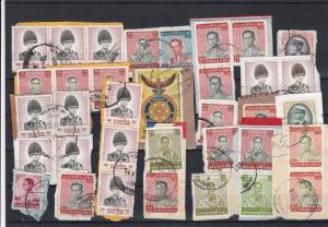 Thailand Stamps on Paper Ref 32214