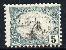 French Somali Coast 1903 Mosque 5c black & blue-green...