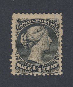 Canada  Large Queen Stamp #21-1/2c Mint No Gum F/VF HR Guide Value = $100.00