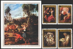 Brazzaville. 1978. 606-9, bl14. Rubens, painting. USED.