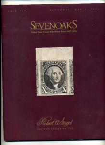 Siegel Famous SevenOaks Stamp and Classic Imperforate Sale