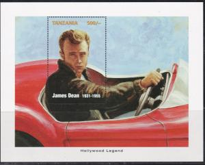 Tanzania James Dean Movie Star Souvenir Sheet, NH