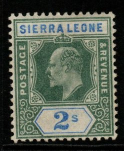 SIERRA LEONE SG83 1903 2/= GREEN & ULTRAMARINE MTD MINT
