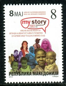 181 - MACEDONIA 2014 - Red Cross - Red Crescent Day - MNH Set