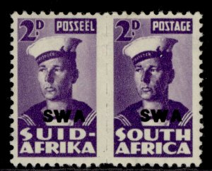 SOUTH WEST AFRICA GVI SG126, 2d violet, M MINT.