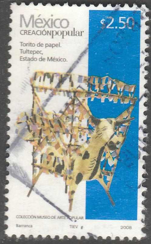 MEXICO 2492c, $2.50P HANDCRAFTS 2008 ISSUE. USED. F-VF. (1522)