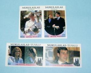 Tuvalu-Nukulaelae - 61-62, MNH Imperf Set. Royal Wedding