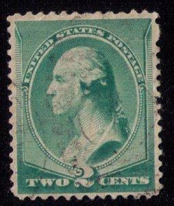 US Scott #213 USED DARK GREEN F-VF