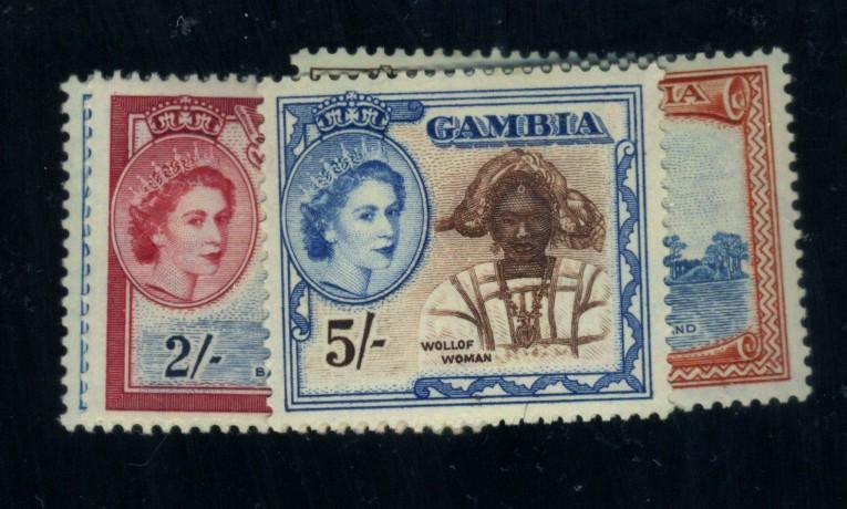 Gambia #161-5 MINT VF OG HR Cat$31.50
