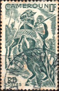 CAMEROUN - 1946 - Yv.291 / Mi.285 10fr vert foncé - Used