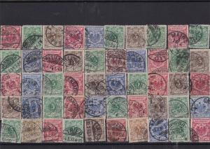 Germany early used Reichspost Stamps with good cancels Ref 14249