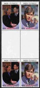 Tuvalu - Nui 1986 Royal Wedding (Andrew & Fergie) 60c...