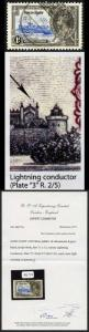 Gold Coast SG113c 1935 Silver Jubilee 1d with Lightning Conductor Fine Used